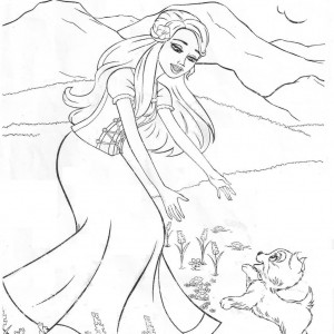 barbie princess and the popstar coloring pages
