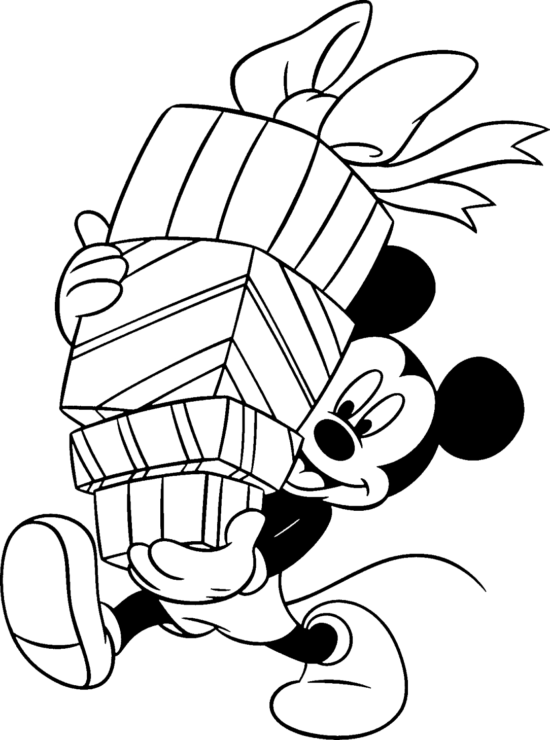 birthday mickey mouse coloring pages