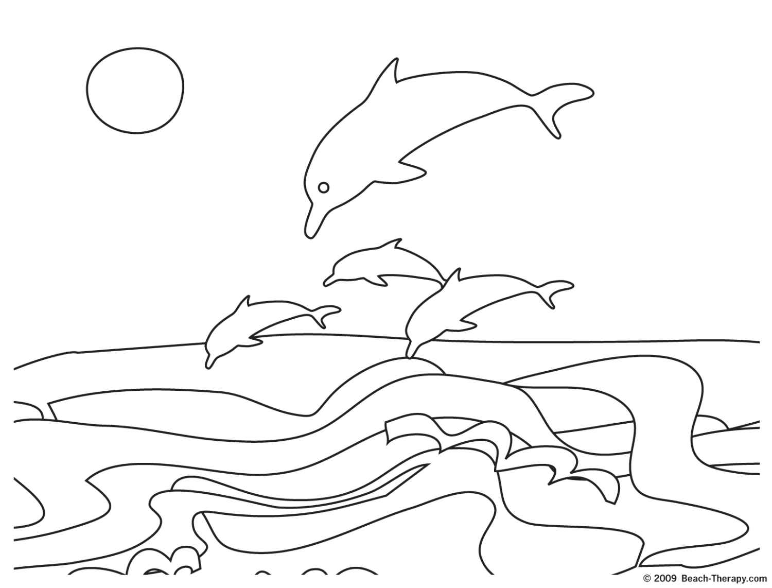 summer beach coloring pages for kids