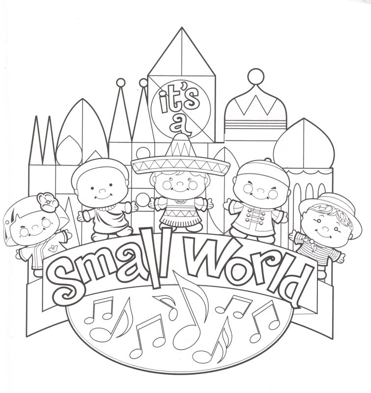 coloring pages of disney world