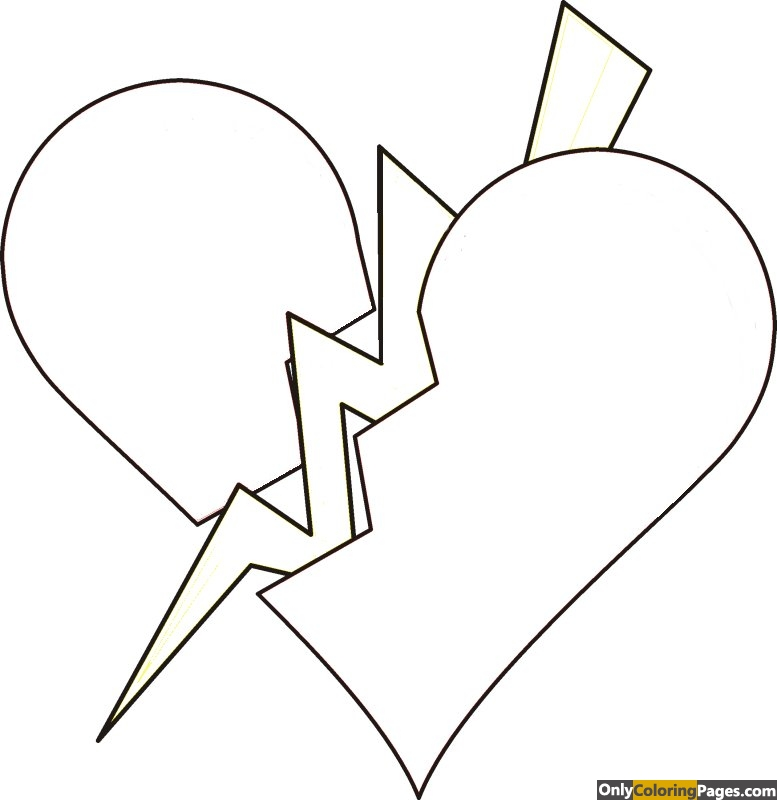 broken heart coloring pages for teenagers