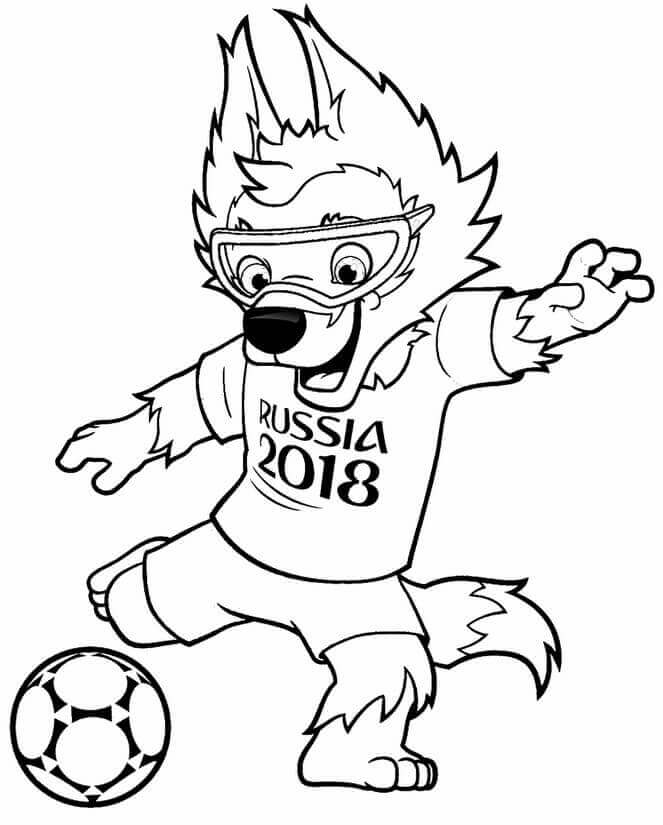 2018 fifa mascot coloring pages for toddlers