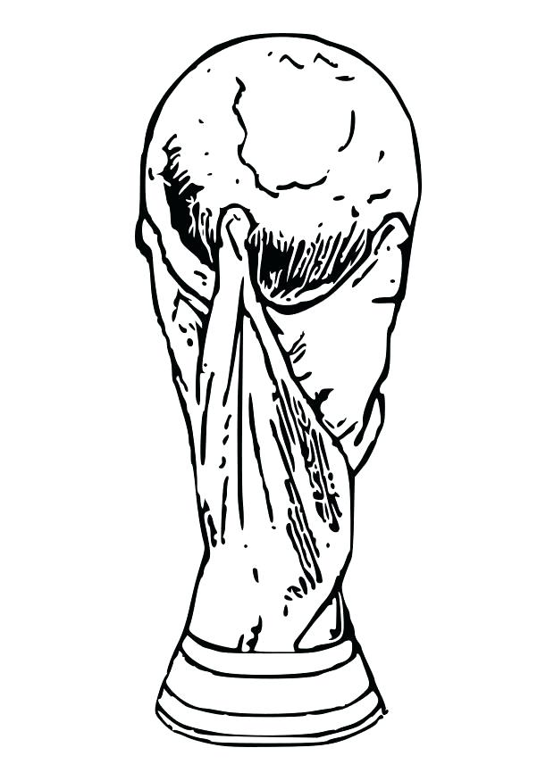fifa world cup 2018 trophy and logo coloring pages
