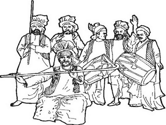 vaisakhi colouring pages
