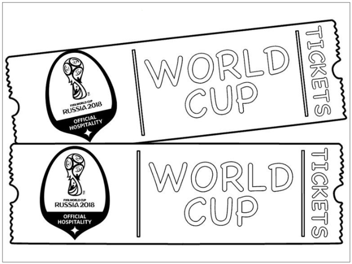 world cup 2018 tickets coloring pages football