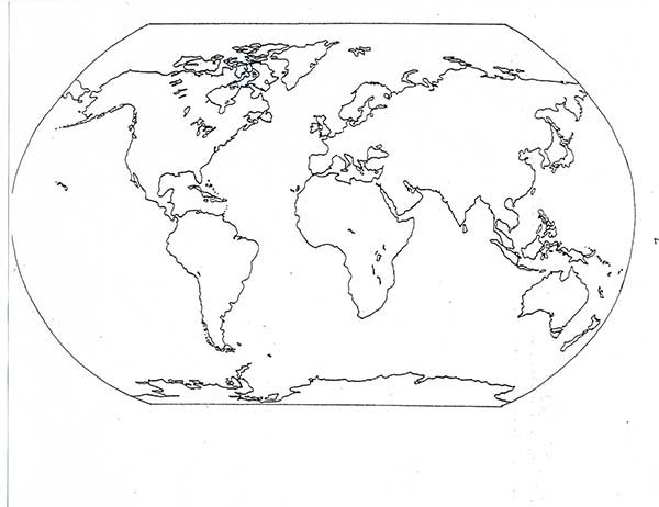 All Countries World Map Coloring Pages