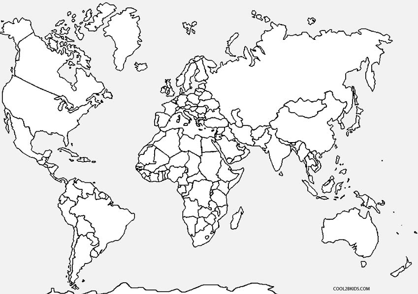 Countries of the World Coloring Pages