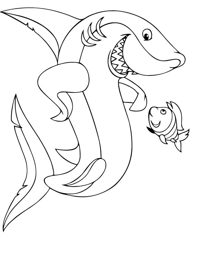 for teens Free Printable Shark Coloring Pages For Kids already colored