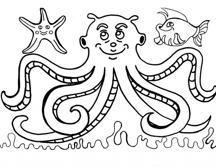 for sunday school Free Printable Octopus Coloring Pages For Kids for sunday school