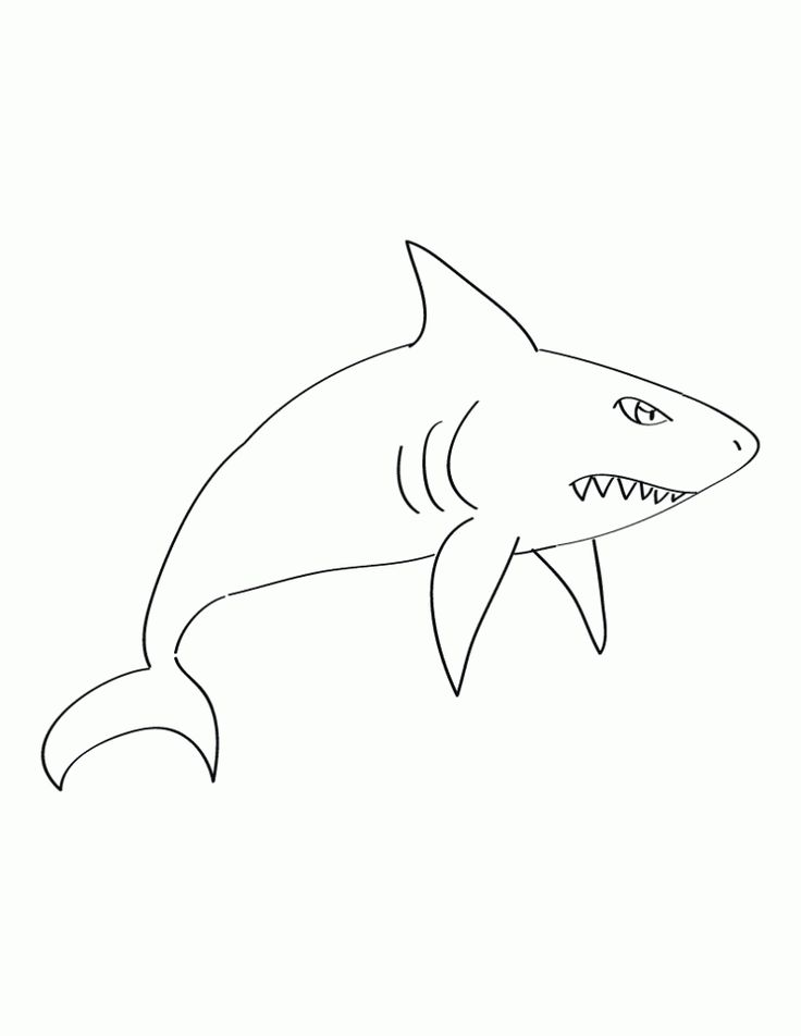 free printable Free Printable Shark Coloring Pages For Kids for boys