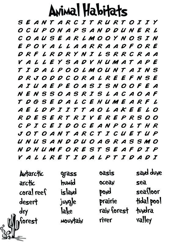 simple Third Grade Word Search - Best Coloring Pages For Kids to print out