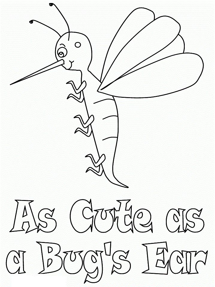 for sunday school Free Printable Bug Coloring Pages For Kids for kindergarten
