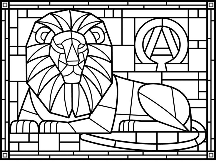 free Stained Glass Coloring Pages for Adults - Best Coloring Page... printable