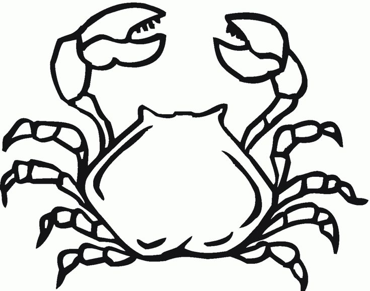 for adults Free Printable Crab Coloring Pages For Kids toddler