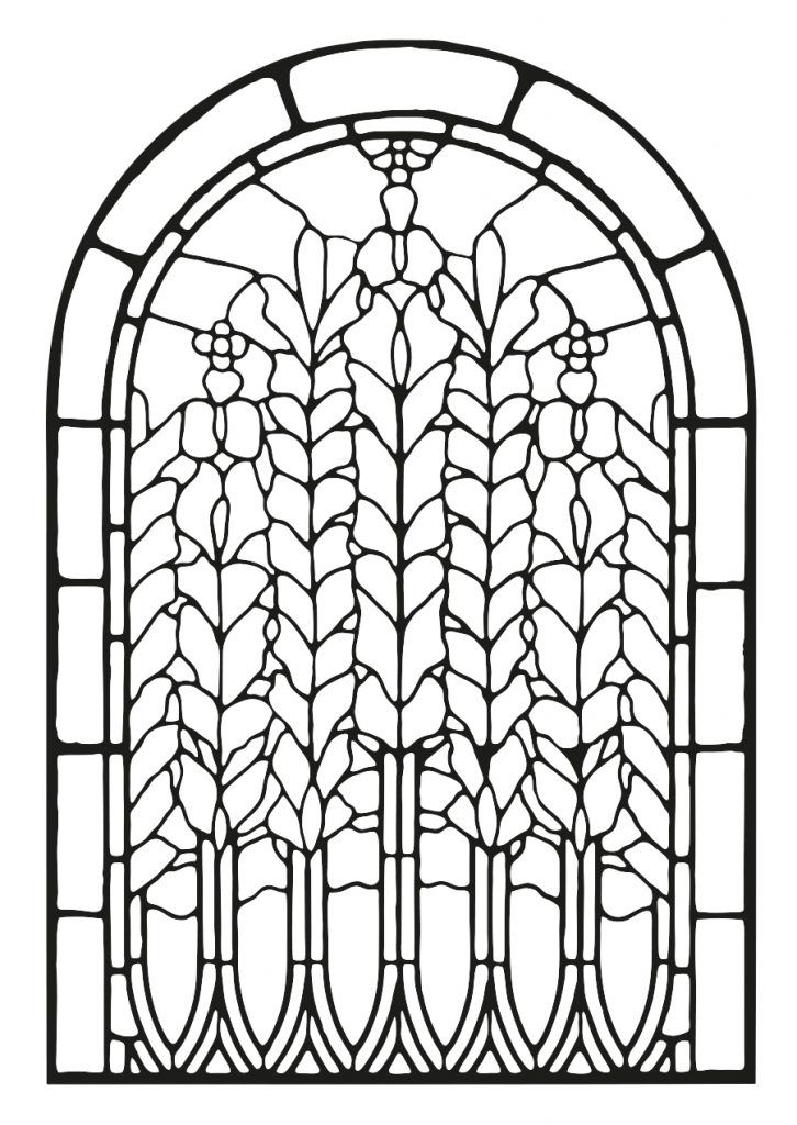 for adults Stained Glass Coloring Pages for Adults - Best Coloring Page... online