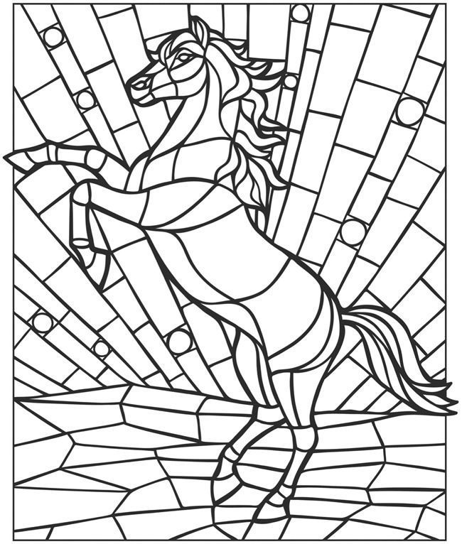 for sunday school Stained Glass Coloring Pages for Adults - Best Coloring Page... for girls