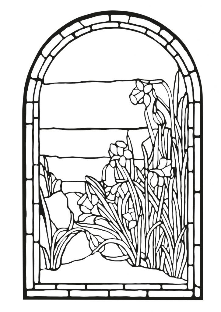 preschool Stained Glass Coloring Pages for Adults - Best Coloring Page... simple