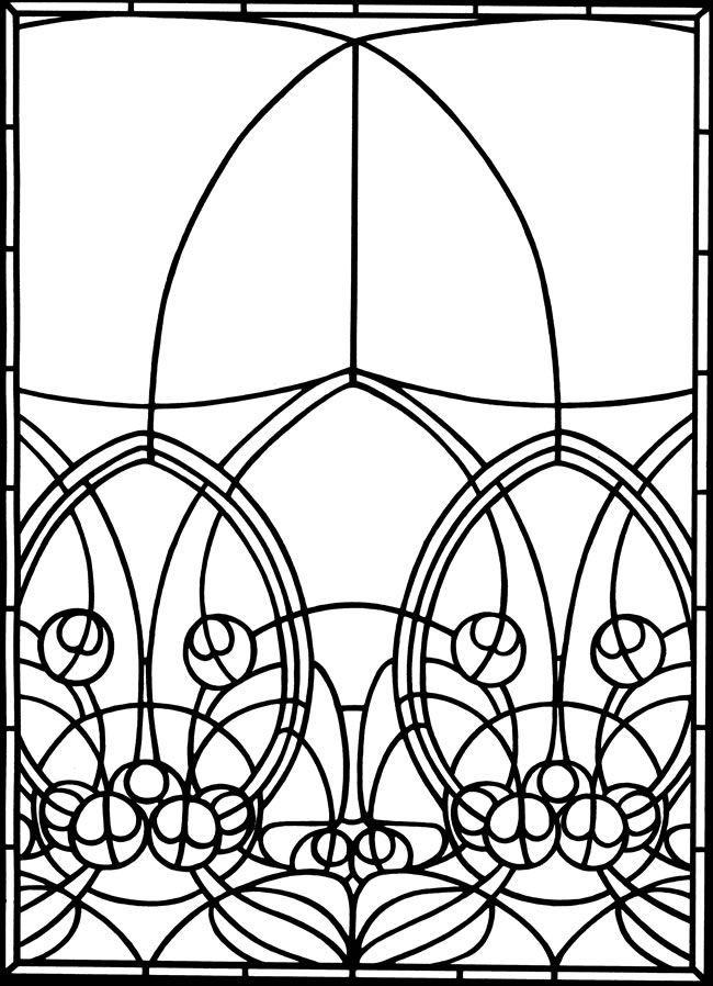 toddler Stained Glass Coloring Pages for Adults - Best Coloring Page... for toddlers