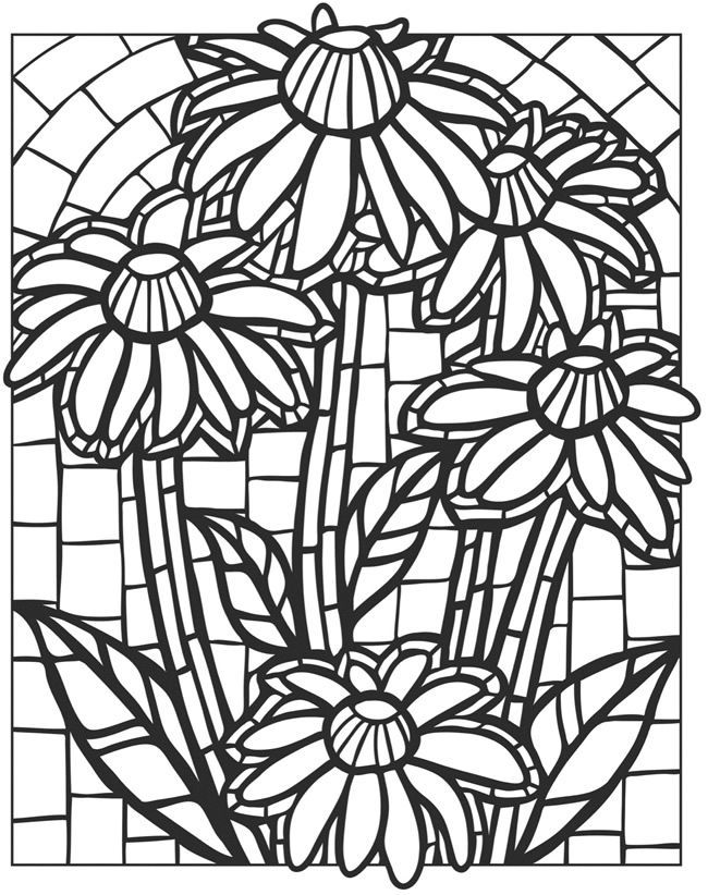 for teens Stained Glass Coloring Pages for Adults - Best Coloring Page... for toddlers