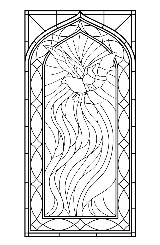 preschool Stained Glass Coloring Pages for Adults - Best Coloring Page... for sunday school