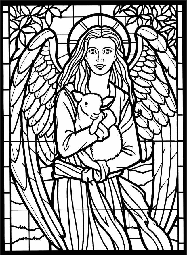 for toddlers Stained Glass Coloring Pages for Adults - Best Coloring Page... already colored
