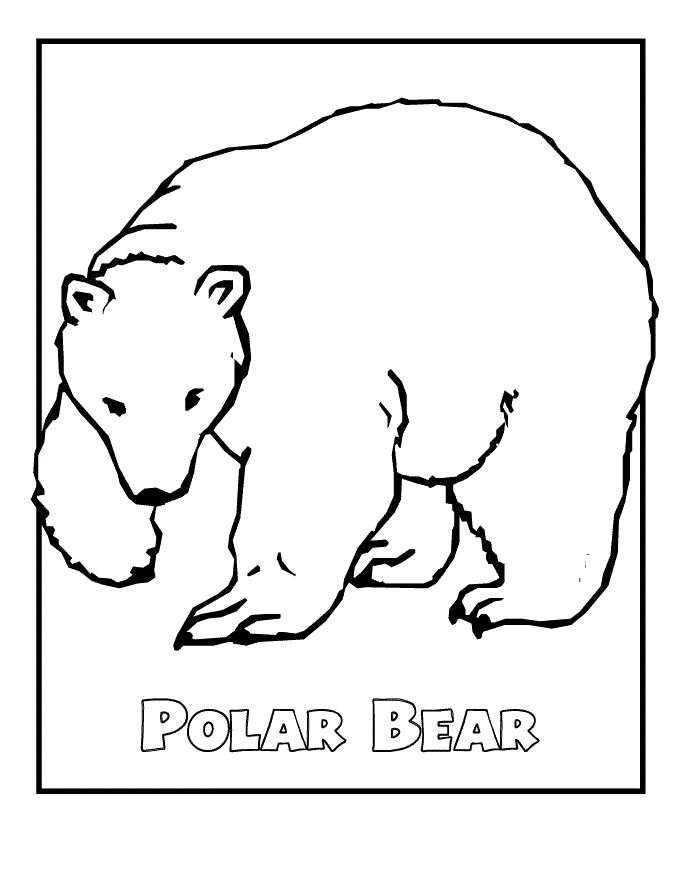 for girls Free Printable Polar Bear Coloring Pages For Kids preschool