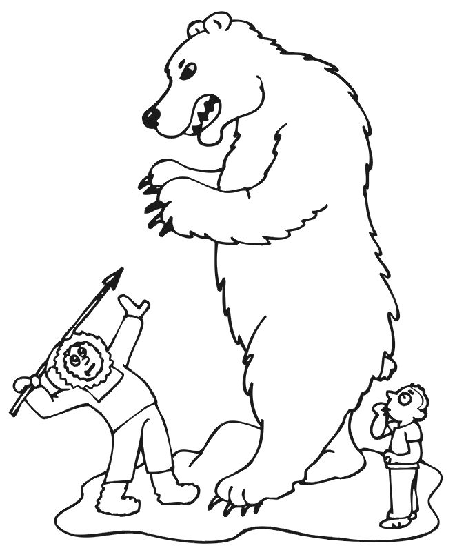 for kids Free Printable Polar Bear Coloring Pages For Kids for sunday school