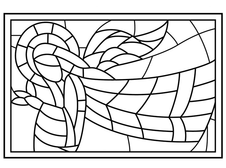 for teens Stained Glass Coloring Pages for Adults - Best Coloring Page... simple