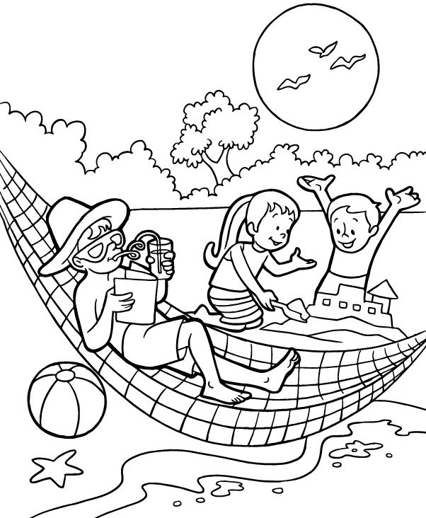 for teens Summer Coloring Pages for Kids. Print them All for Free. online