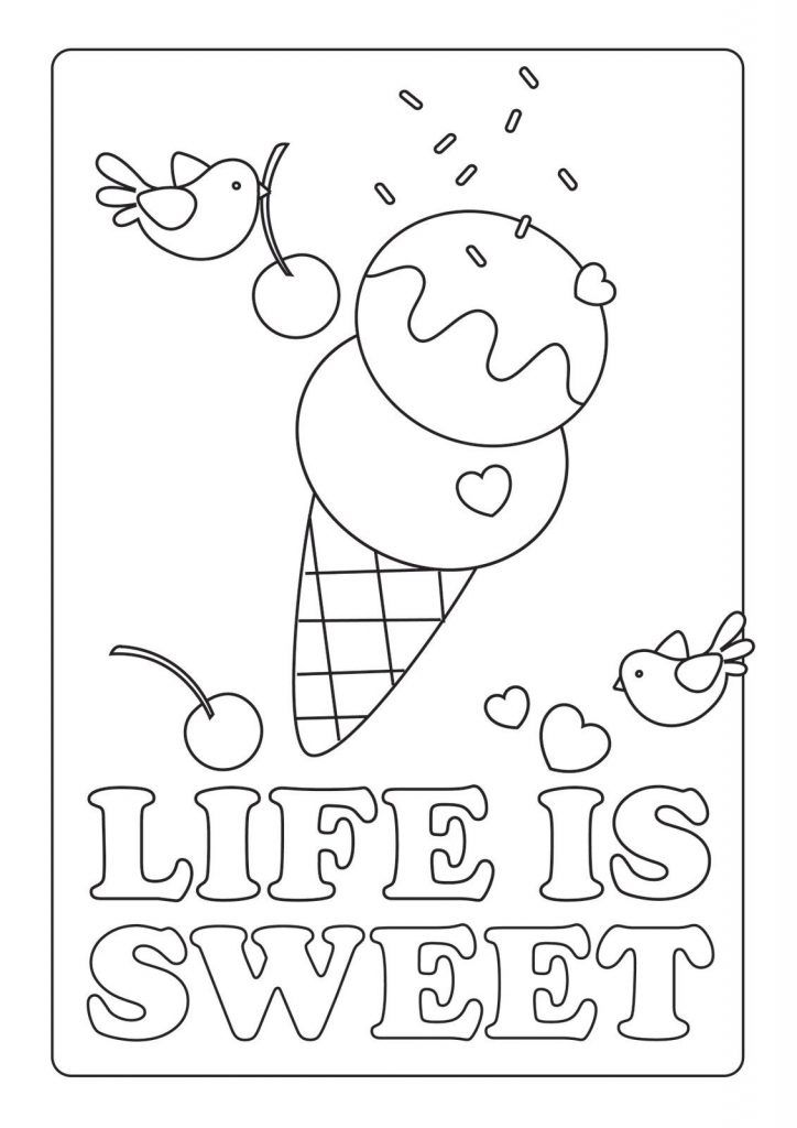 for kindergarten Summer Coloring Pages for Kids. Print them All for Free. simple