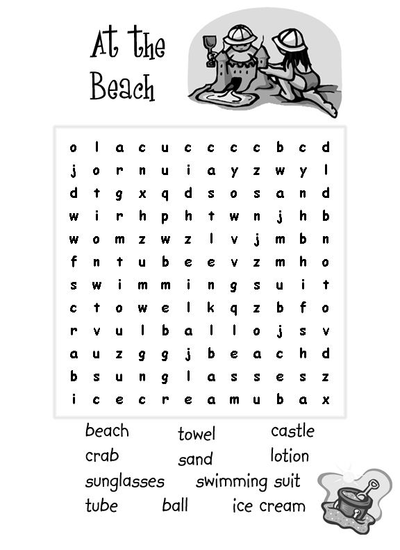 to print out Summer Word Search Puzzles - Best Coloring Pages For Kids for kids