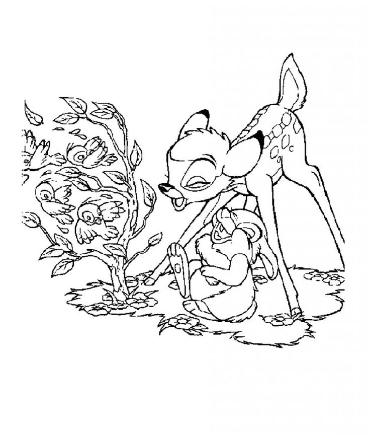 for adults Free Printable Bambi Coloring Pages For Kids for boys