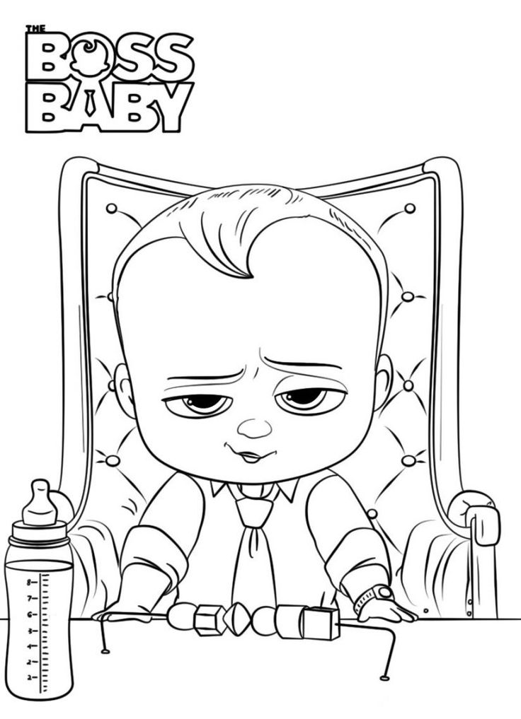 printable Boss Baby Coloring Pages - Best Coloring Pages For Kids for toddlers