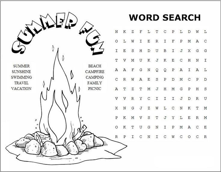 for kids Summer Word Search Puzzles - Best Coloring Pages For Kids free printable