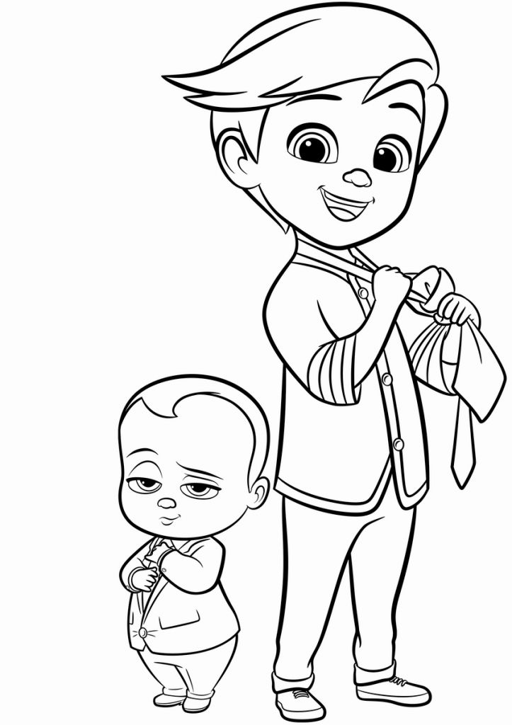 printable Boss Baby Coloring Pages - Best Coloring Pages For Kids easy