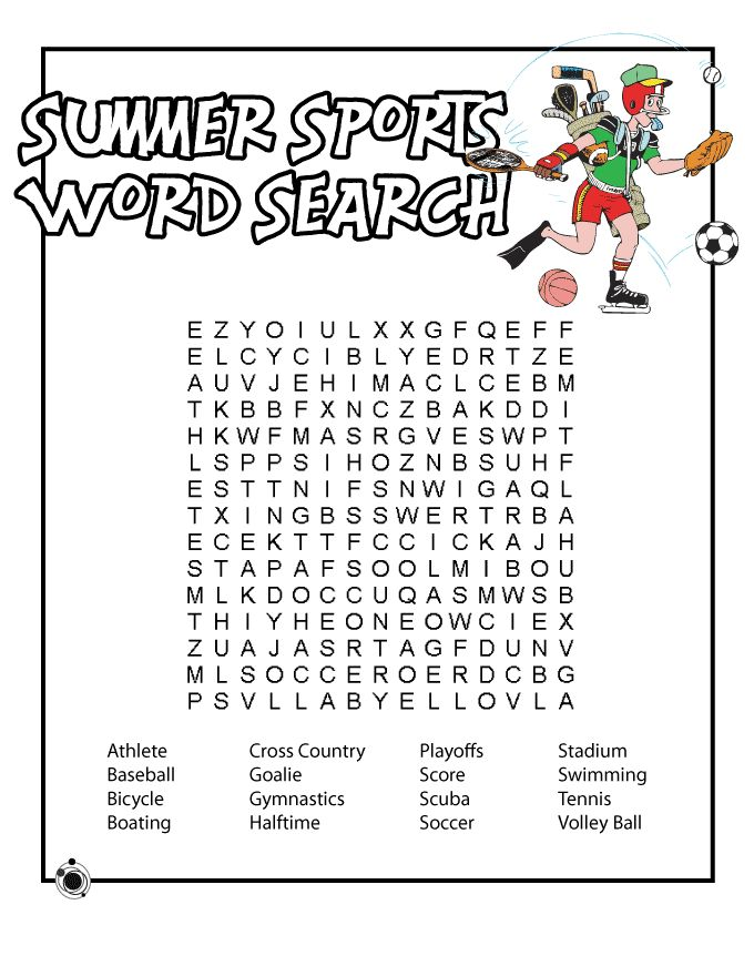 for kindergarten Summer Word Search Puzzles - Best Coloring Pages For Kids online
