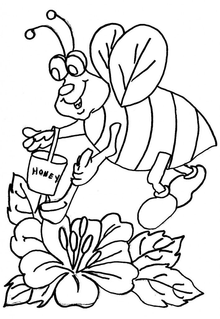 for teens Free Printable Bee Coloring Pages For Kids pdf