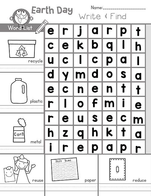 free Earth Day Word Search - Best Coloring Pages For Kids toddler