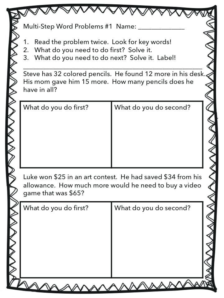 for kids 2nd Grade Math Word Problems - Best Coloring Pages For Kids pdf