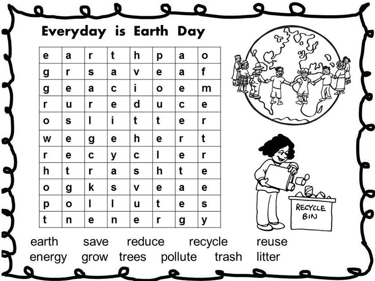 to print out Earth Day Word Search - Best Coloring Pages For Kids free printable