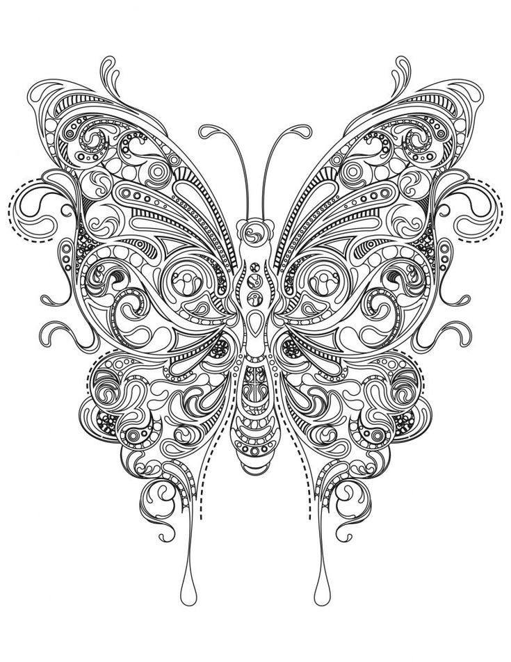 easy Butterfly Coloring Pages for Adults - Best Coloring Pages Fo... for boys