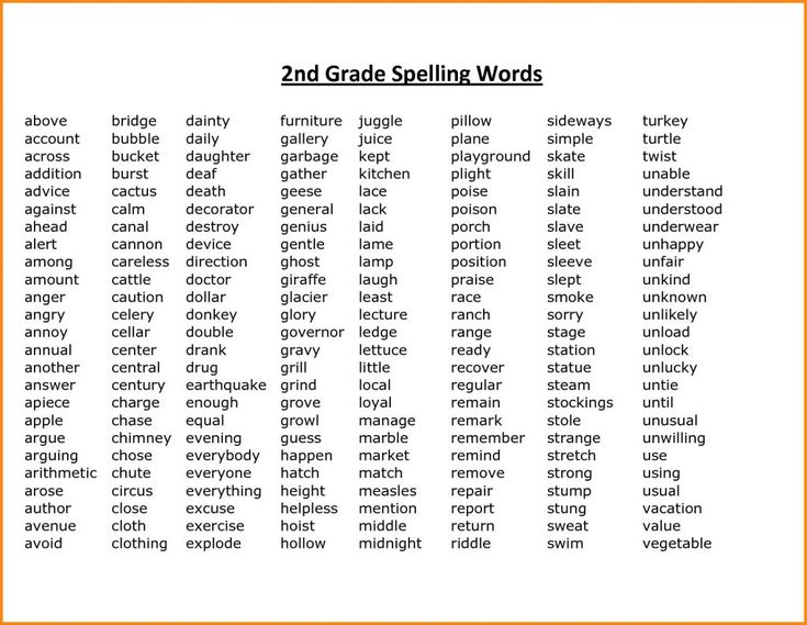 online 2nd Grade Spelling Words - Best Coloring Pages For Kids for adults