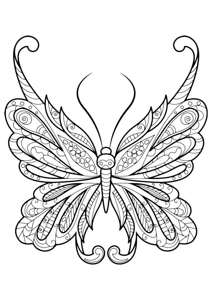 toddler Butterfly Coloring Pages for Adults - Best Coloring Pages Fo... simple