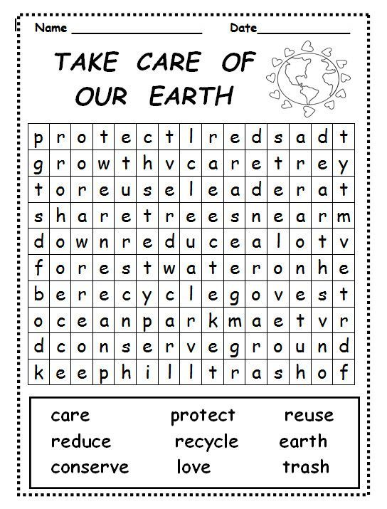 already colored Earth Day Word Search - Best Coloring Pages For Kids free