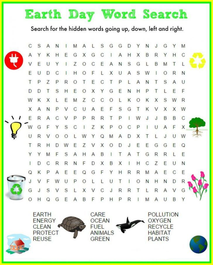 pdf Earth Day Word Search - Best Coloring Pages For Kids free printable