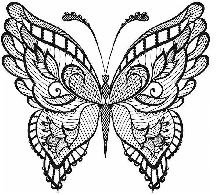 for teens Butterfly Coloring Pages for Adults - Best Coloring Pages Fo... easy