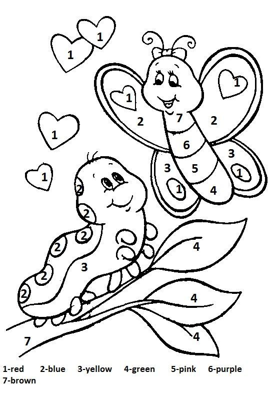 free printable Free Printable Color by Number Coloring Pages - Best Colorin... for toddlers