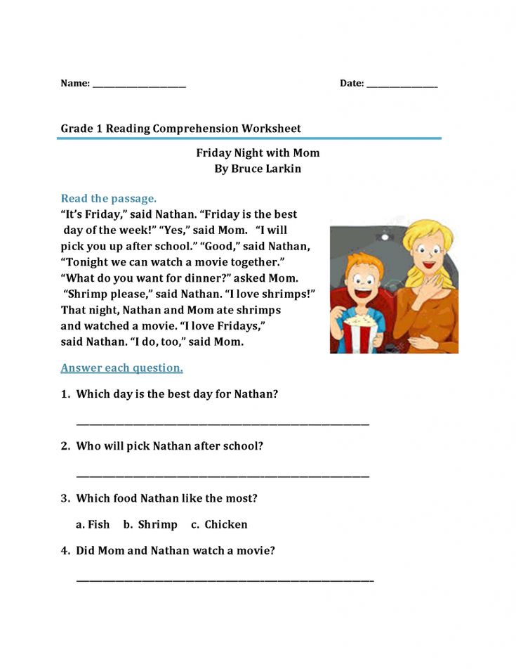 easy 1st Grade Reading Worksheets - Best Coloring Pages For Kids for kids
