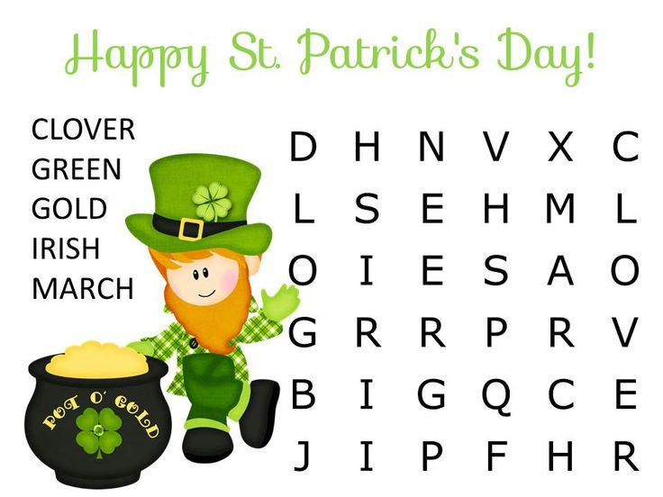 printable St Patricks Day Word Search - Best Coloring Pages For Kids to print out