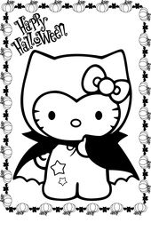 Hello Kitty Halloween Coloring Pages | Educative Printable